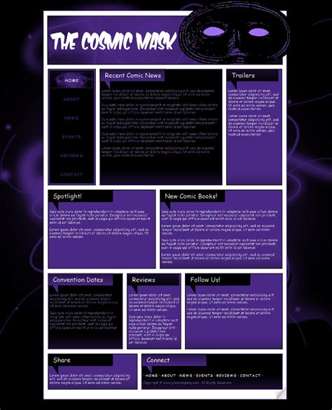 Comic Book Website Template 3 By Kimlita On Deviantart Comic Book Website Template