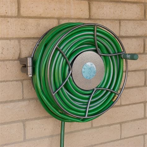 wall mounted hose reels garden metal yard butler srwm 180 wall mounted hose reel myreels