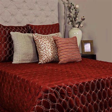 Velvet Patchwork Bedspread - florence textured rust velvet bedspread addresshome
