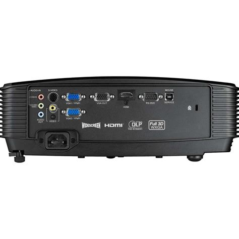 Projector Optoma Ex 611st 1 optoma h100 black 3d hd ready dlp projector with 3200 lumens 1x hdmi up to 6500hrs l