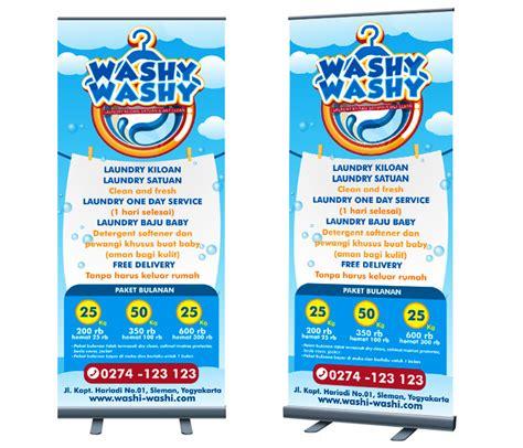 desain banner unik sribu desain banner desain banner untuk laundry washy was