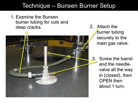 steps to lighting a bunsen burner 2012