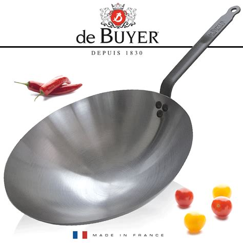 dei buyer de buyer carbone plus wok 35 cm mineral b element