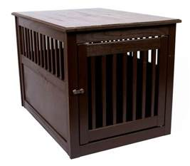 wood crate end table furniture pet cage indoor house
