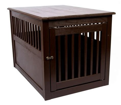 cage furniture wood crate end table furniture pet cage indoor house small large kennel