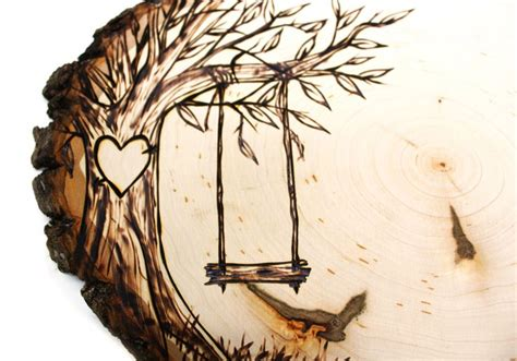tree swing country design wood slice rustic theme wedding