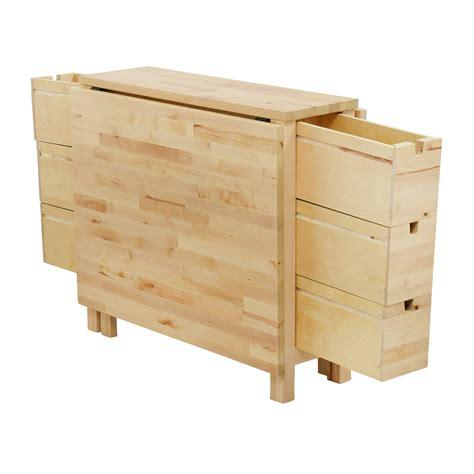 ikea folding table with drawers 49 off ikea ikea birch norden gateleg drop leaf table