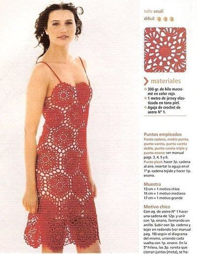 clothes pattern website red flower motif dress free crochet graph pattern womens