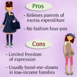 Pros And Cons Of Wearing School Uniforms Essay by Pros And Cons Of Uniforms Careerfutura