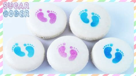 Macaron Baby Shower Favor by Baby Shower Macarons Baby Shower Cookies By Sugarcoder
