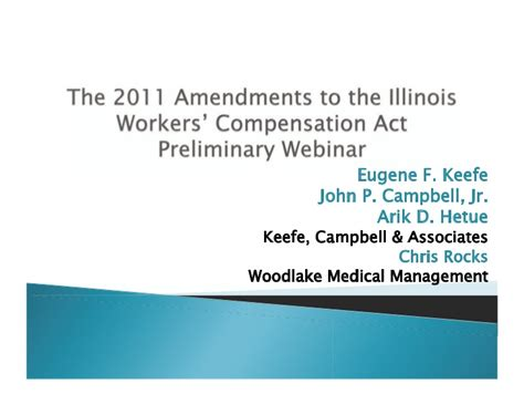 Illinois Workers Compensation Search 2011 Amendments To The Illinois Workers Compensation Act