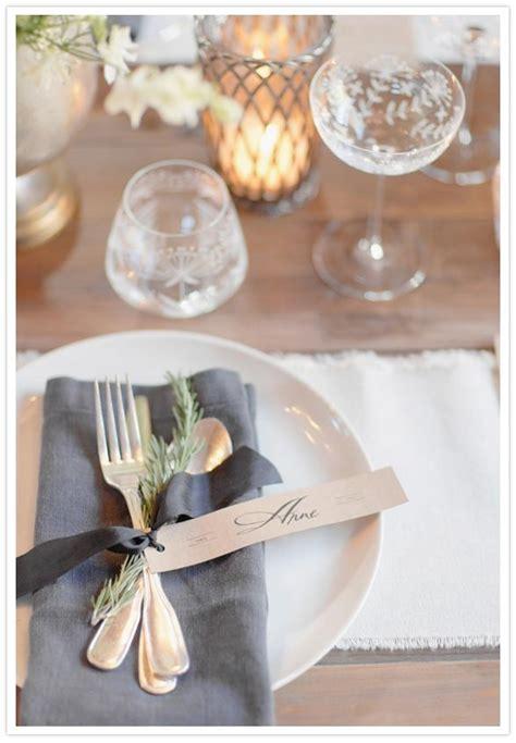 rustic modern wedding inspiration table setting wedding