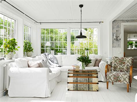 White Wood Floors Living Room by Cococozy Swedish Cottage By The Sea See This