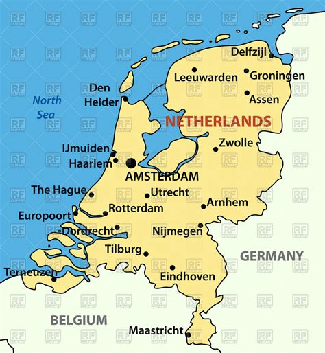 netherlands map clipart map of netherlands royalty free vector clip image