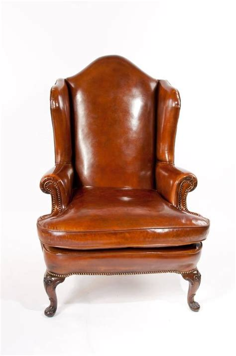 superb quality 19th century antique leather wing chair at superb antique walnut leather wingback armchair mid 19th