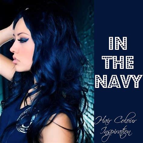 navy hair color navy blue hair colour inspiration rock your locks i