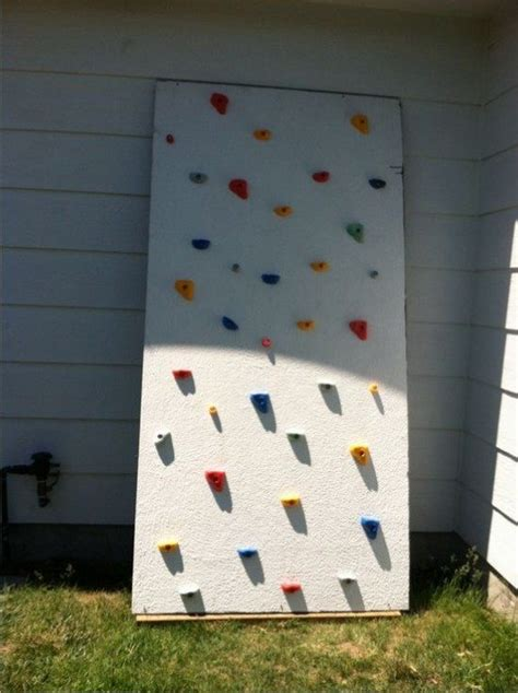 diy outdoor climbing wall diy rock climbing wall