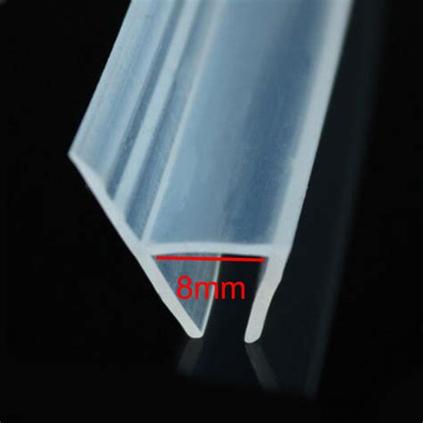 Silicone Shower Door Seal H Shape Bath Shower Glass Door Silicone Rubber Seal Weatherstrip For 8mm Glass In Sealing