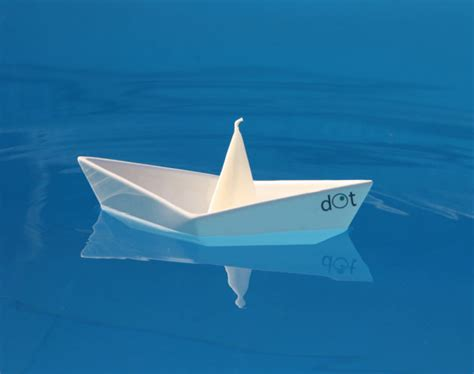 Floating Origami Boat - floating boat candleholders by dot design milk