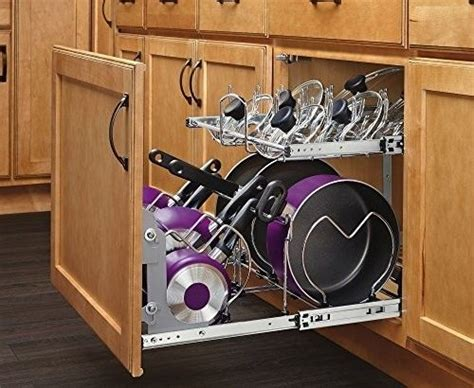 Pull Out Pots And Pans Rack by Kitchen Cabinet Organizer Sliding Pull Out Storage Rack
