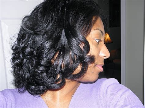 cool hairstyles from rollers for black women roller set hairstyles for short black hair best short
