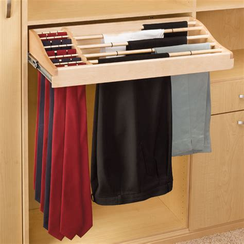 Tie Shelf by Rev A Shelf Wood Pant And Tie Rack Kitchensource