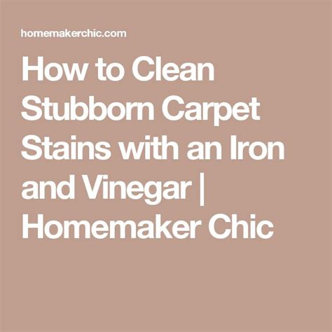 How To Clean Stubborn Carpet Stains With An Iron And | carpet stains stains and carpets on pinterest