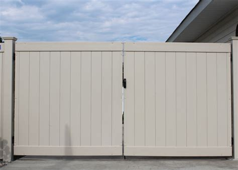 12 Foot Vinyl Gate by Vinyl Gates Northwest Fence Company