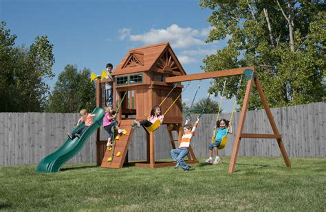 play safe swing set sky loft wooden swing set with 11 safe unique features