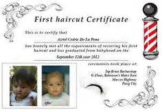 my haircut certificate template haircut on hairstyles for boys boy