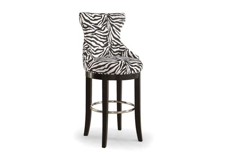 Metal Footrest For Bar Stools by Baxton Studio Peace Modern And Contemporary Zebra Fabric