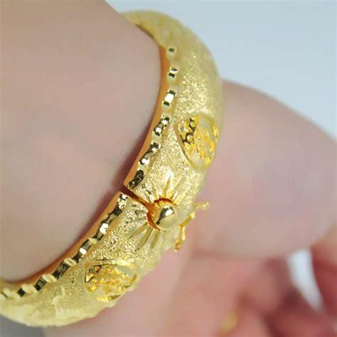 Bangle Hongkong 24k 10 730 Gram popular models plated 24k gold bracelet ring