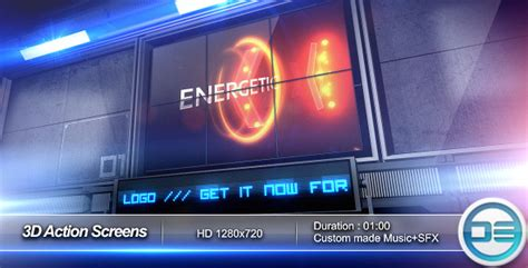 3d Action Screens By D3luxxxe Videohive After Effects Project Files And Templates Free