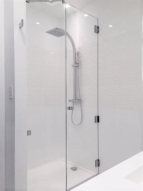 custom frameless glass shower doors frameless inline shower enclosures