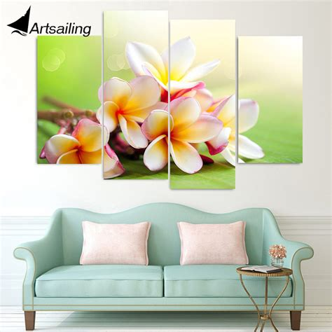 panel canvas painting canvas art plumeria rubra flowers