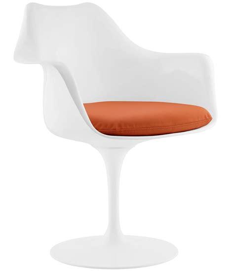 tulip armchair saarinen style tulip armchair with leatherette cushion