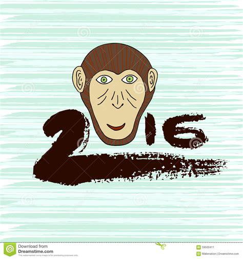 new year monkey pictures to print new year print monkey symbol ink 2016