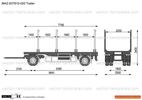 trailer templates templates buses maz maz 837810 020 trailer