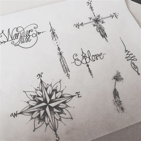girly tattoo designs tumblr arrow compass