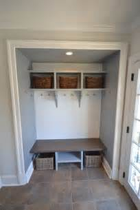 convert closet into mud room lockers add children s