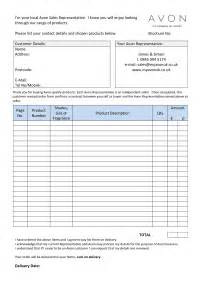 Avon Receipt Template Blank Avon Order Forms Related Keywords Amp Suggestions