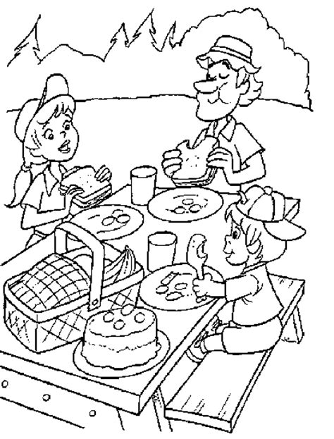 Coloring Pages Picnic Chairs Coloring Pages Picnic Coloring Page