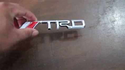 Emblem Crome Original Tulisan Astra Toyota emblem tulisan trd chrome toyota