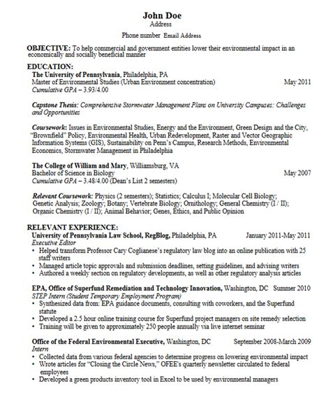 resume format for graduate school career services sle resumes for graduate students and
