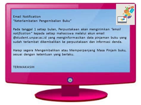 email unpar email notification perpustakaan universitas katolik
