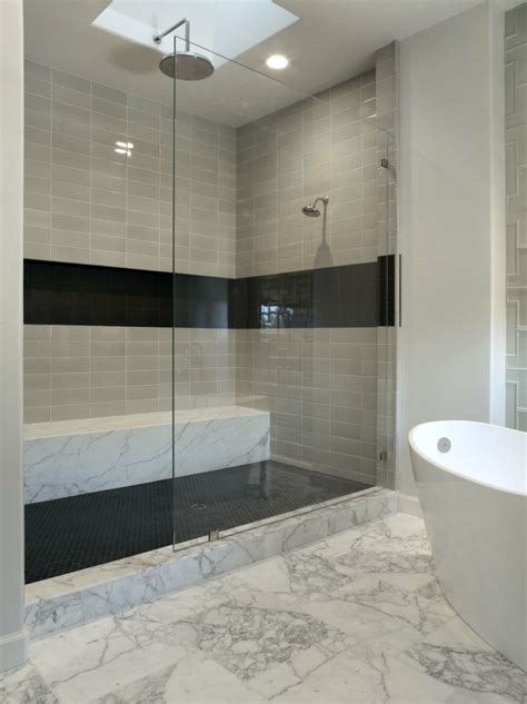 bathroom design ideas mosaic tiles 2017 2018 best cars ba 241 os modernos con ducha cincuenta ideas estupendas