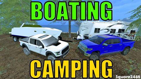 farming simulator boat videos farming simulator 17 boating cing with tundra