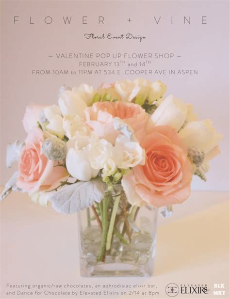 a valentine s day pop up flower shop at gus ruby messenger aspen