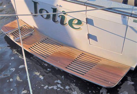 boat with no swim platform teak transom platforms butler marine products llc