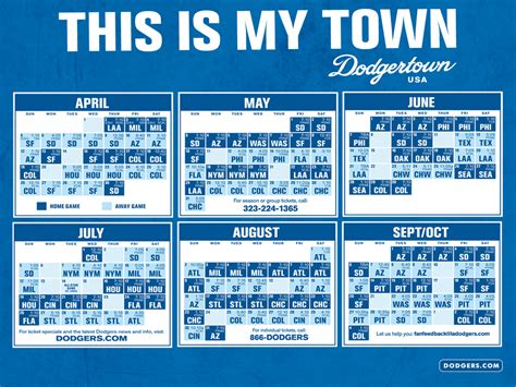 dodgers 2014 schedule printable autos post